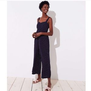 Loft Polka Dot Wide Leg Jumpsuit
